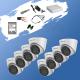 ГОТОВ КОМПЛЕКТ ЗА ВИДЕОНАБЛЮДЕНИЕ - 2 мегапиксела FullHD 1080p, с 8 инфрачервени куполникамери за външен и вътрешен монтаж с вградени микрофони /Audio Over Coaxial/