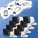 ГОТОВ КОМПЛЕКТ ЗА ВИДЕОНАБЛЮДЕНИЕ - 2 мегапиксела FullHD 1080p, с 8 инфрачервени корпусни камери за външен и вътрешен монтаж с вградени микрофони /Audio Over Coaxial/
