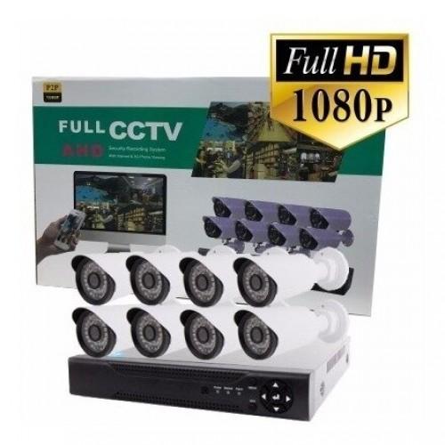 8 канален пълен комплект за видеонаблюдение