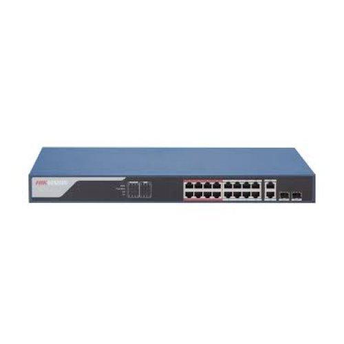 18-портов управляем (smart managed) PoE мрежов комутатор;DS-3E1318P-EI