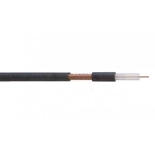Коаксиален кабел, помеднено жило, медна оплетка 70%, метриран - 305 метра ролка