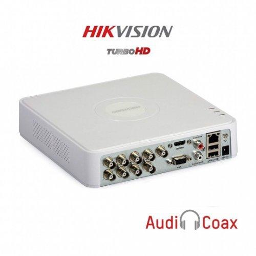 8-канален пентабриден HD-TVI/AHD/CVI/IP цифров рекордер;Audio Over Coaxial;DS-7108HQHI-K1(S)