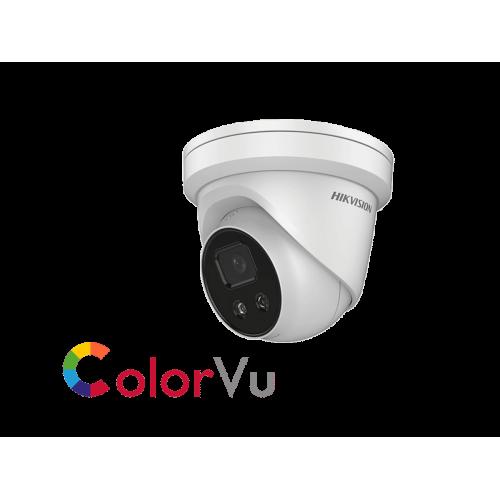 Мегапикселова куполна IP камера Ден/Нощ, вградена бяла LED светлина с обхват до 30м;DS-2CD2327G1-LU