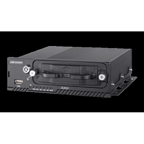 4-канален хибриден видеорекордер за видеонаблюдение и запис в превозни средства; компресия H.265/H.264 с Dual Stream технология;DS-MP5604