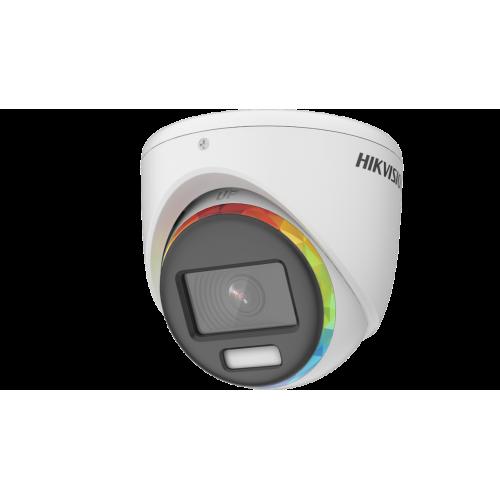 ГОТОВ КОМПЛЕКТ ЗА ВИДЕОНАБЛЮДЕНИЕ HIKVISION ColorVu - 2 мегапиксела FullHD 1080p /1920x1080 px/, с 2 куполни камери с вградено БЯЛО LED осветление