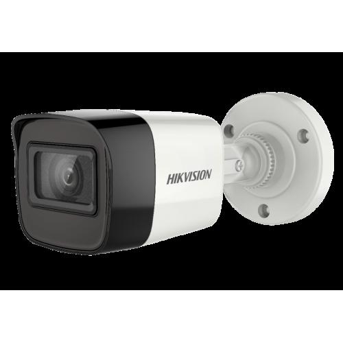 HD-TVI/AHD/CVI/CVBS камера HIKVISION DS-2CE16H0T-ITFS: 5 мегапиксела 2560x1944 px, Обектив: фиксиран 2.8 mm, Вграден микрофон Audio Over Coaxial