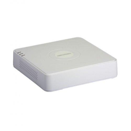 8 канален бюджетен IP мрежов видеорекордер/сървър (NVR) HIKVISION: DS-7108NIQ1/8P(C). С вградени 8 захранващи LAN PoE порта. Поддържа 8 мрежови IP камери до 4 MPX. H.265+/H.265 компресия