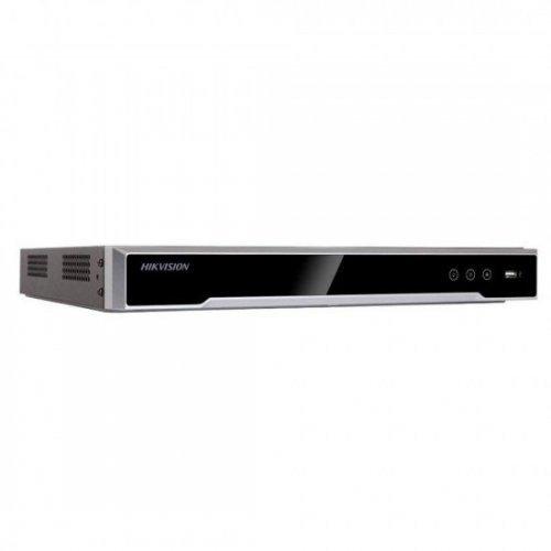 16 канален професионален 4K IP мрежов видеорекордер/сървър (NVR) HIKVISION: DS-7616NI-I2. Поддържа 16 мрежови IP камери до 12 MPX. 2 SATA диска до 8 TB всеки