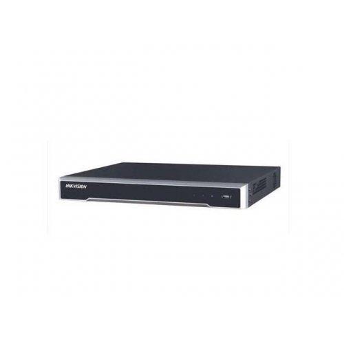 16 канален професионален IP мрежов видеорекордер/сървър (NVR) HIKVISION: DS-7616NI-K2. Поддържа 16 мрежови IP камери до 8 MPX. H.265+/H.265 компресия