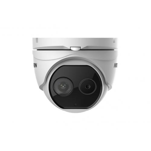 HIKVISION DS-2TD1217-2/V1: Комбинирана термовизионна и мрежова IP камера Bi-Spectrum, обектив 2 mm с ъгъл на видимост: 90°, детекция на хора до 53 метра, детекция на автомобили до 162 метра
