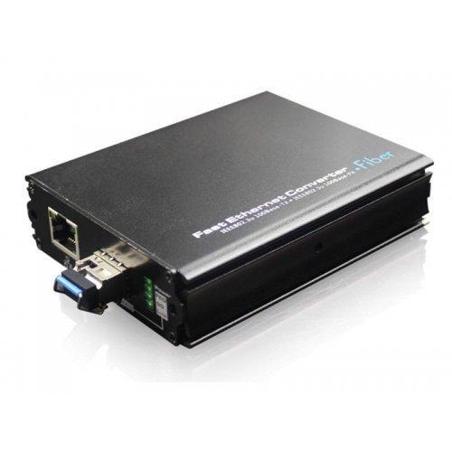 Медиа конвертор; 1 х Fast Ethernet порт + 1 x Fiber optic порт (SFP);UOF7201GE