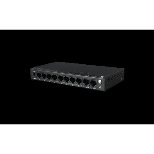 9-портов PoE мрежов комутатор; 8 х 10/100Mbps Fast Ethernet порта + 1 x 10/100Mbps Uplink порта;SF9P-HM