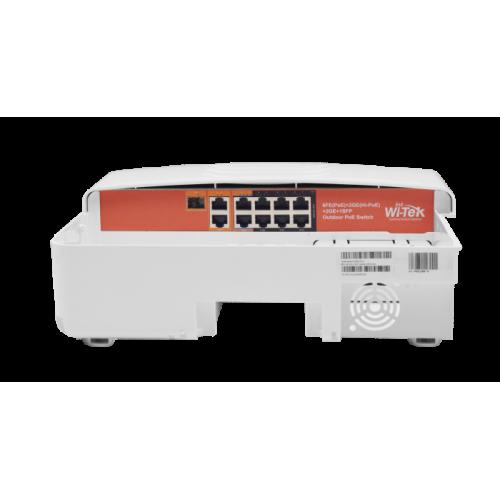 Външен 10-портов PoE мрежов комутатор в кутия;WI-PS210G-O
