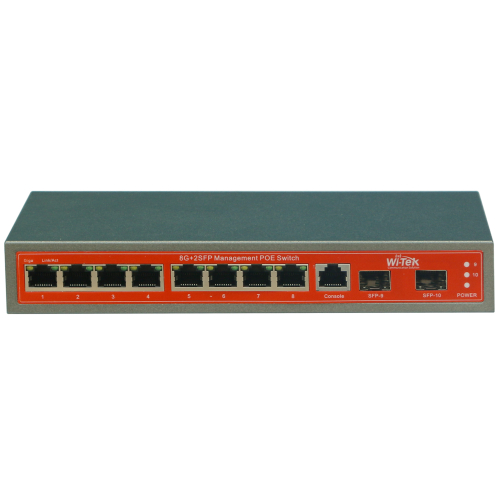 10-портов PoE управляем мрежов комутатор;WI-PMS310GF